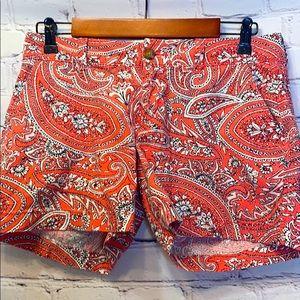 Old Navy Coral Black White Paisley Shorts Size 2